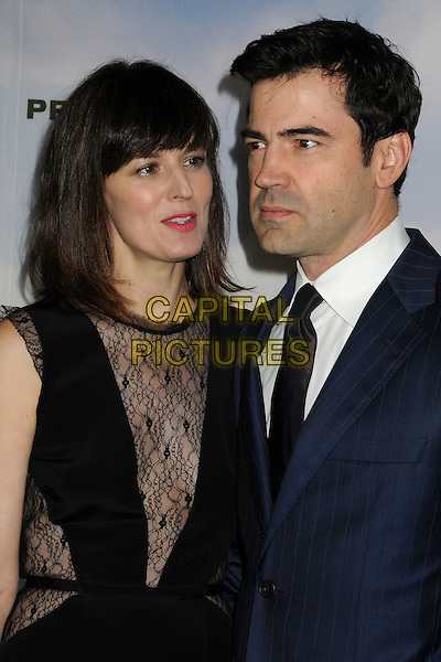 "Rosemarie DeWitt, Ron Livingston.""Promised Land"" Los Angeles Premiere held at the Directors Guild of America, West Hollywood, California, USA, .6th December 2012.half length black lace dress  blue suit tie couple married husband wife  white shirt .CAP/ADM/BP.©Byron Purvis/AdMedia/Capital Pictures."