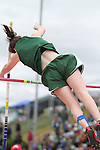 Photograph from the WIAA State Championships at Eastern Washington University in Cheney, Washington, during the 2010 Mt. Rainier Lutheran High School track and field season (pole vault photo sequence, 10 of 14).