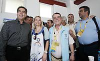 Minos Kyriakou (3rd L) with wife Mari Konstantatou (2nd L). STOCK PICTURE
