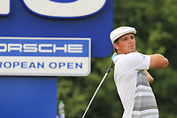 Bryson DeChambeau (USA) tees off the 13th tee during Saturday's Round 3 of the Porsche European Open 2018 held at Green Eagle Golf Courses, Hamburg Germany. 28th July 2018.<br /> Picture: Eoin Clarke | Golffile<br /> <br /> <br /> All photos usage must carry mandatory copyright credit (&copy; Golffile | Eoin Clarke)