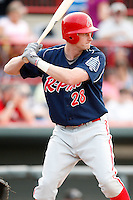 August 1, 2009:  First Baseman Kevin Mahar of the Reading Phillies during a game at Jerry Uht Park in Erie, PA.  Reading is the Eastern League Double-A affiliate of the Philadelphia Phillies.  Photo By Mike Janes/Four Seam Images