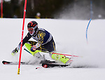 FRANCONIA, NH - MARCH 10:   A member of Montana State's skiing team participates in the men's slalom at the Division I Men's and Women's NCAA Skiing Championships held at Jackson Ski Touring on March 10, 2017 in Jackson, New Hampshire. (Photo by Gil Talbot/NCAA Photos via Getty Images)