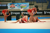 USA Senior Group begins routine with 5 ropes at 2007 Genoa World Cup of Rhythmic Gymnastics Groups on June 9, 2007 at Genoa, Italy.  (Photo by Tom Theobald)