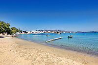 The beach of the village Pollonia in Milos, Greece