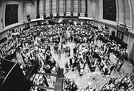 August 1971, Manhattan, New York City, New York State, USA --- Interior of the New York Stock Exchange on Wall Street during the 1971 Dollar crisis when President Nixon stopped gold convertibility to stabilise the dollar. --- Image by © JP Laffont