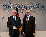Brussels-Belgium - February 01, 2012 -- Visit to Brussels by Prof. Dr. Norbert LAMMERT (le), President / Speaker of the German Parliament (Deutscher Bundestag); here, meeting with Herman VAN ROMPUY (ri), President of the European Council -- Photo: © HorstWagner.eu