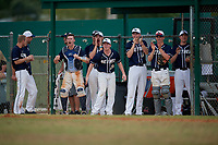 Bethel Wildcats celebrate a Parker Mullenbach (not shown) double during the second game of a double header against the Edgewood Eagles on March 15, 2019 at Terry Park in Fort Myers, Florida.  Bethel defeated Edgewood 3-2.  (Mike Janes/Four Seam Images)
