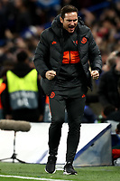 5th November 2019; Stamford Bridge, London, England; UEFA Champions League Football, Chelsea Football Club versus Ajax; Chelsea Manager Frank Lampard celebrates as his side equalises for 4-4 - Editorial Use