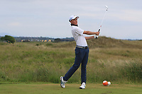 Jayden Schaper (RSA) on the 15th tee during Round 3 of the East of Ireland Amateur Open Championship 2018 at Co. Louth Golf Club, Baltray, Co. Louth on Monday 4th June 2018.<br /> Picture:  Thos Caffrey / Golffile<br /> <br /> All photo usage must carry mandatory copyright credit (&copy; Golffile | Thos Caffrey)