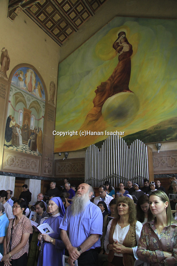 Israel, Jerusalem, Visitation Day at the Church of the Visitation in Ein Karem