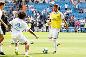 9th September 2017, Santiago Bernabeu, Madrid, Spain; La Liga football, Real Madrid versus Levante; Sergio Ramos Garcia (4) of Real Madrid warming up
