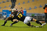 Tanner Vili gets taken to ground in a typical strong Ma'a Nonu tackle. Air New Zealand Cup rugby game between Counties Manukau Steelers & Wellington played at Mt Smart Stadium on the 31st August 2007. The Score was 13 all at halftime, with Wellington going on to win 33 - 18.