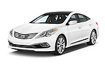 2017 Hyundai Azera Liimited 4 Door Sedan angular front stock photos of front three quarter view