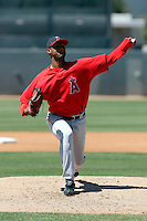 Manuel Flores - Los Angeles Angels - 2009 spring training.Photo by:  Bill Mitchell/Four Seam Images