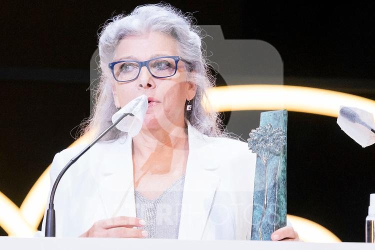 Kiti Manver during Malaga Film Festival Gala at Teatro Cervantes.August 24 2020. (Alterphotos/Francis González)