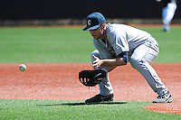 University of Connecticut infielder Michael Habzda (30) during game against the Rutgers University Scarlet Knights at Bainton Field on May 3, 2013 in Piscataway, New Jersey. Connecticut defeated Rutgers 3-1.      . (Tomasso DeRosa/ Four Seam Images)