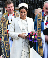 Prince Harry and Meghan Duchess of Sussex at Commonwealth Day Observance Service, an annual multi-faith service in celebration of the Commonwealth, at Westminster Abbey, London, England on March 11, 2019.<br /> CAP/JOR<br /> &copy;JOR/Capital Pictures