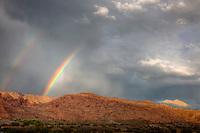 Rainbows above Wilson Mesa, Proposed La Sal Waters Wilderness, Utah, Near Moab, Utah