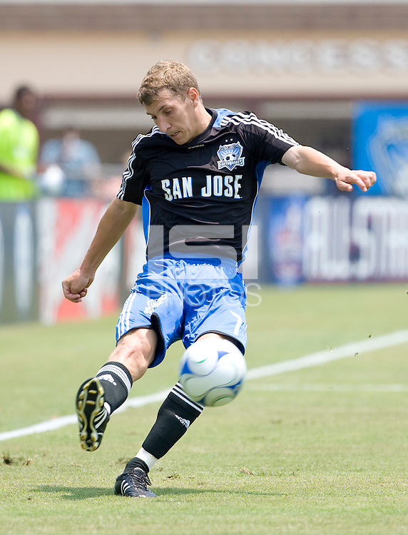 12 July 2008: Ronnie O' Brien of the Earthquakes in action during the game against the Rapids at Buck Shaw Stadium in Santa Clara, California.   San Jose Earthquakes tied Colorado Rapids, 1-1.