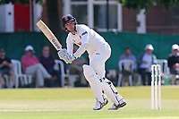 Jamie Porter hits four runs for Essex during Surrey CCC vs Essex CCC, Specsavers County Championship Division 1 Cricket at Guildford CC, The Sports Ground on 11th June 2017