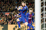 Lionel Messi of FC Barcelona catches the ball during the La Liga 2017-18 match between FC Barcelona and Deportivo La Coruna at Camp Nou Stadium on 17 December 2017 in Barcelona, Spain. Photo by Vicens Gimenez / Power Sport Images
