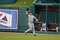 Seattle right fielder Ben Broussard in action against the Royals at Kauffman Stadium in Kansas City, Missouri on May 26, 2007.  The Mariners won 9-1.