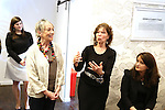 Rachel Routh, Carol Hall and Gretchen Cryer attends the Dramatists Guild Fund Music Hall and Office warming party at their new home on April 17, 2015 in New York City.