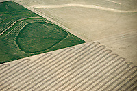 Farm field pattern in western Kansas. May 2014. 83906