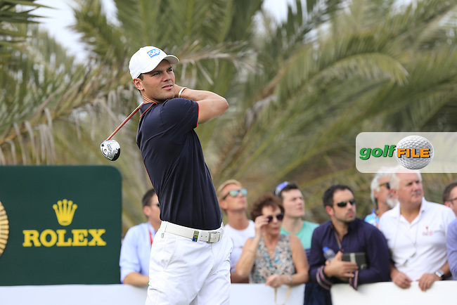 Martin Kaymer (GER) tees off the 14th tee during Sunday's Final Round of the Abu Dhabi HSBC Golf Championship 2015 held at the Abu Dhabi Golf Course, United Arab Emirates. 18th January 2015.<br /> Picture: Eoin Clarke www.golffile.ie