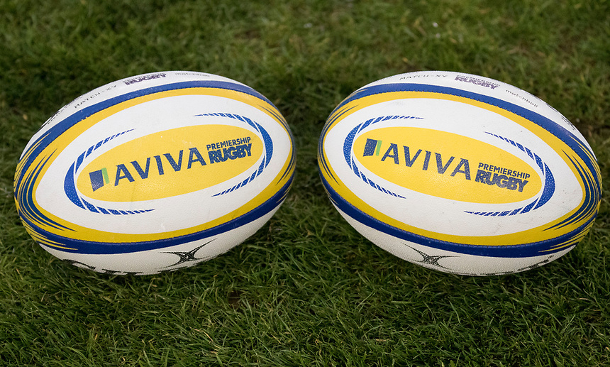 Rugby Balls<br /> <br /> Photographer Bob Bradford/CameraSport<br /> <br /> Aviva Premiership Round 20 - Harlequins v Exeter Chiefs - Friday 14th April 2016 - The Stoop - London<br /> <br /> World Copyright &copy; 2017 CameraSport. All rights reserved. 43 Linden Ave. Countesthorpe. Leicester. England. LE8 5PG - Tel: +44 (0) 116 277 4147 - admin@camerasport.com - www.camerasport.com