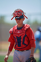 Boston Red Sox catcher Samuel Miranda (41) during a Minor League Spring Training game against the Tampa Bay Rays on March 25, 2019 at the Charlotte County Sports Complex in Port Charlotte, Florida.  (Mike Janes/Four Seam Images)