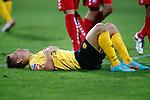 Nederland, Kerkrade, 21 september 2012.Eredivisie.Seizoen 2012-2013.Roda JC-FC Utrecht (0-1).Krisztian Nemeth van Roda JC ligt uitgeteld op de grasmat