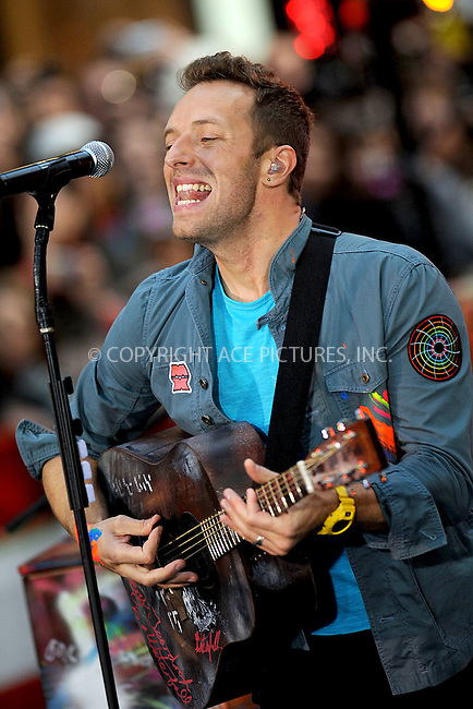 WWW.ACEPIXS.COM . . . . . .October 21, 2011...New York City...Coldplay performs on NBC's 'Today' at Rockefeller Center on October 21, 2011 in New York City.....Please byline: KRISTIN CALLAHAN - ACEPIXS.COM.. . . . . . ..Ace Pictures, Inc: ..tel: (212) 243 8787 or (646) 769 0430..e-mail: info@acepixs.com..web: http://www.acepixs.com .