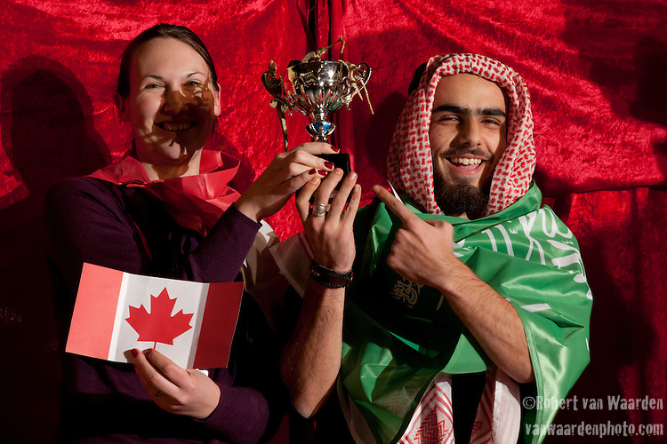 Canada and Saudi Arabia are awarded the third place Fossil of the day award on Monday, Dec. 14. (Images free for Editorial Web usage for Fresh Air Participants during COP 15. Credit: Robert vanWaarden)