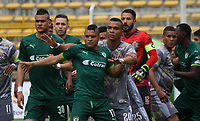 BOGOTA -COLOMBIA, 16-04-2017. Action game between Equidad and Tigres  during match for the date 13 of the Aguila League I 2017 played atMetroplitano de Techo  stadium . Photo:VizzorImage / Felipe Caicedo  / Staff