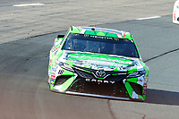 July 16, 2017 - Loudon, New Hampshire, U.S. - Kyle Busch, Monster Energy NASCAR Cup Series driver of the Interstate Batteries Toyota (18), races at the NASCAR Monster Energy Overton's 301 race held at the New Hampshire Motor Speedway in Loudon, New Hampshire. Eric Canha/CSM