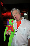 Kermit the Frog poses with Guiding Light Jerry ver Dorn and One Life To Live hosts the 9th Annual Daytime Stars & Strikes Charity Event to benefit The American Cancer Society on October 7, 2012 at Bowlmor Lanes Times Square, New York City, New York.  (Photo by Sue Coflin/Max Photos)