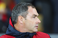 Swansea City manager Paul Clement prior to kick off of the Carabao Cup Fourth Round match between Swansea City and Manchester United at the Liberty Stadium, Swansea, Wales, UK. Tuesday 24 October 2017
