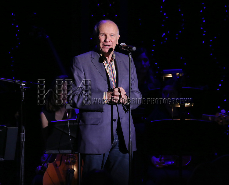 Terrence McNally performs at the Dramatists Guild Gala 'Great Writers Thank Their Lucky Stars' at The Edison Ballroom on October 27, 2014 in New York City.