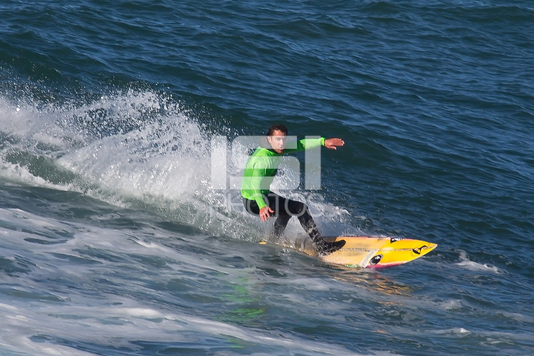 Half Moon Bay - Ca, Sunday, January 20, 2013: Tyler Fox competes during the 2013 Mavericks Invitational..