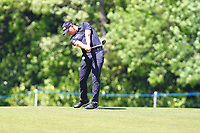 Matt Wallace on the 18th fairway during the BMW PGA Golf Championship at Wentworth Golf Course, Wentworth Drive, Virginia Water, England on 26 May 2017. Photo by Steve McCarthy/PRiME Media Images.