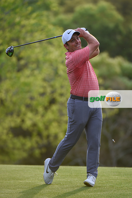 Francesco Molinari (ITA) watches his tee shot on 3 during day 4 of the WGC Dell Match Play, at the Austin Country Club, Austin, Texas, USA. 3/30/2019.<br /> Picture: Golffile   Ken Murray<br /> <br /> <br /> All photo usage must carry mandatory copyright credit (© Golffile   Ken Murray)