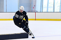 June 26, 2018: Boston Bruins defenseman Urho Vaakanainen (58) skates during the Boston Bruins development camp held at Warrior Ice Arena in Brighton Mass. Eric Canha/CSM