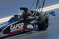 Jul, 21, 2012; Morrison, CO, USA: NHRA top fuel dragster driver Steve Torrence during qualifying for the Mile High Nationals at Bandimere Speedway. Mandatory Credit: Mark J. Rebilas-