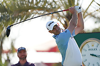 Paul Waring (ENG) on the 9th tee during Round 1 of the Abu Dhabi HSBC Championship 2020 at the Abu Dhabi Golf Club, Abu Dhabi, United Arab Emirates. 16/01/2020<br /> Picture: Golffile | Thos Caffrey<br /> <br /> <br /> All photo usage must carry mandatory copyright credit (© Golffile | Thos Caffrey)