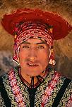 Portrait of a Quechua man, Peru.