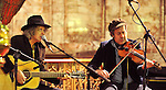 Mike Scott and Steve Wickham of The Waterboys performing in the unique setting of Holy Trinity Church on friday eveing as part of The Rolling Sun Festival in Westport..Pic Conor McKeown