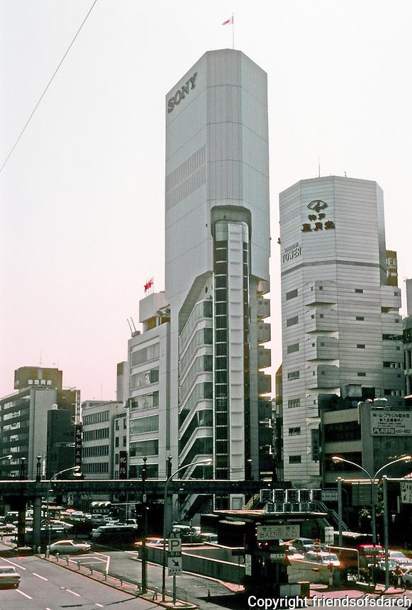 Osaka: Sony Tower, 1975 by Kisho Kurokawa, architect. Photo '82.