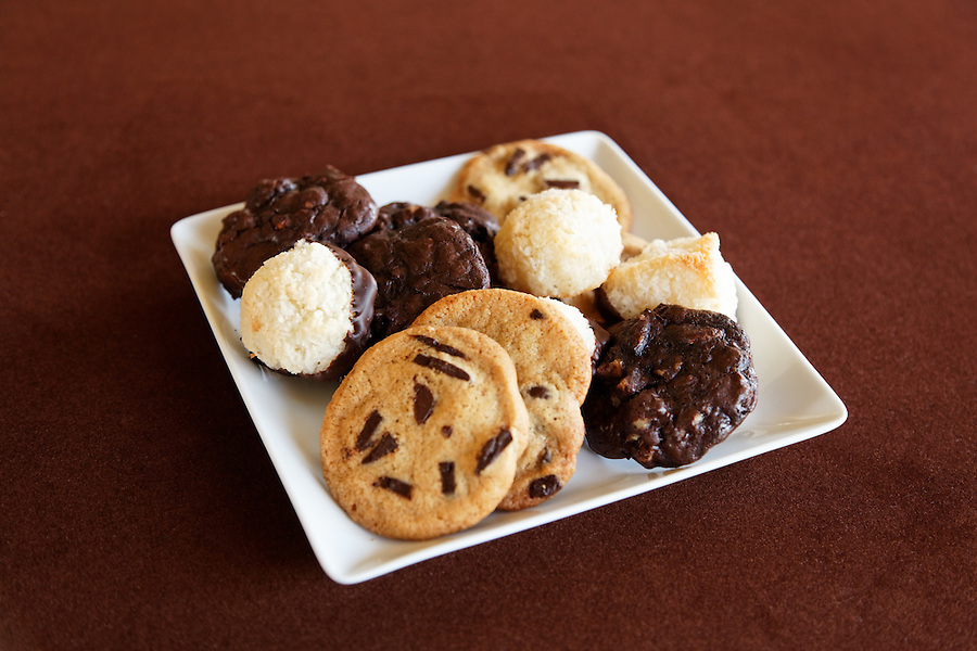 Cookies on plate, by pastry chef Laurie Pfalzer, Pastry Craft