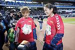 (L-R) Asuna Tanaka, Homare Sawa (Leonessa),  DECEMBER 27, 2015 - Football / Soccer : The 37th Empress Cup All Japan Women's Football Championship Award Ceremony at Todoroki Stadium in Kanagawa, Japan (Photo by Yusuke Nakanishi/AFLO SPORT)